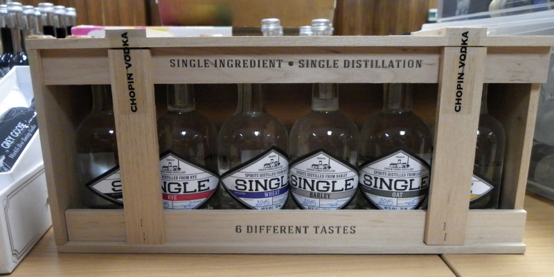 Single ingredient - Single distillation - 6 different tastes